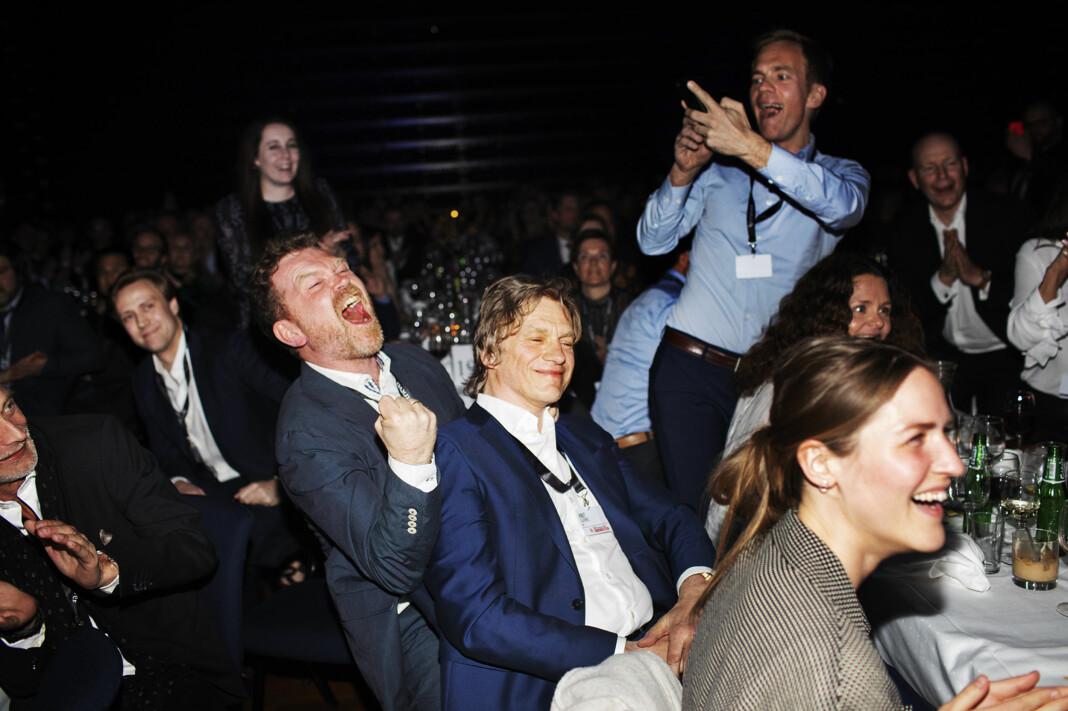 Kjetil Sæter, Knut Gjernes, Lars Kristian Solem og Fredrik Solstad ble tildelt Skup-prisen i 2018. Arkivfoto: Andrea Gjestvang