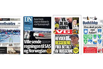Adresseavisen, Budstikka, VG og DN konkurrerer om å bli årets avis