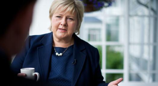 Solberg ut mot «blodtørstige journalister» i Sandberg-saken