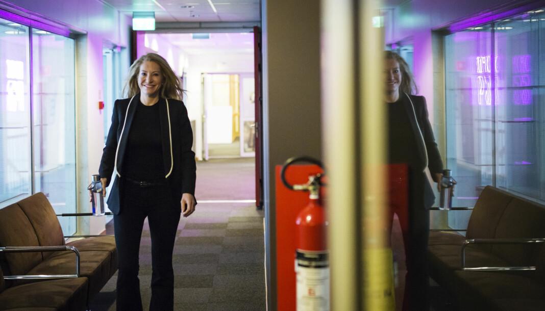 <p>Leder i Kirngkastingsrådet, Julie Brodtkorb, før første møtet i det nye rådet, 22. mars 2018. Arkivfoto: Kristine Lindebø</p>