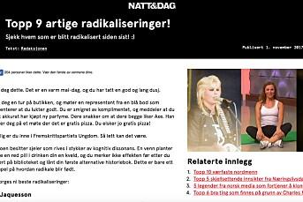 Klage fra Kari Jaquesson mot Natt & Dag opp i PFU