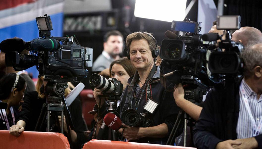 VGs New York-fotograf Thomas Nilsson var på plass under det amerikanske presidentvalget i 2016. Foto: Pontus Hook