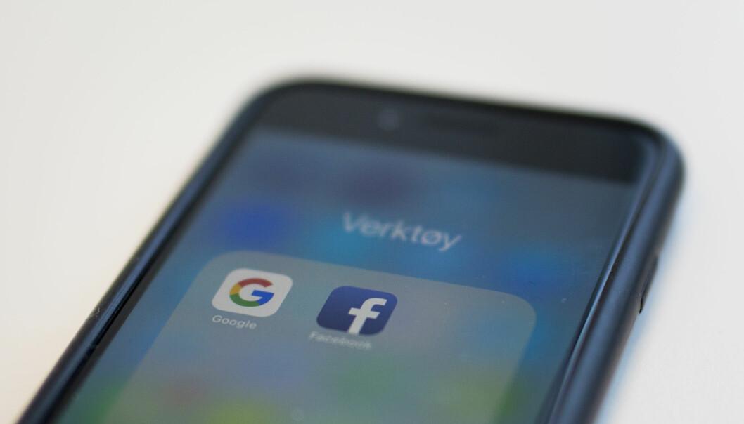 Google og Facebook må kanskje betale en egen, norsk digitalskatt, hvis EU vedtar foreslåtte regler og disse blir gjeldende for Norge. Foto: Kristine Lindebø