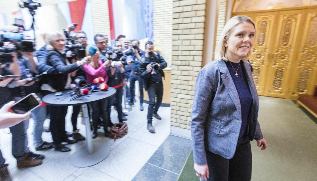 Flere Sylvi Listhaug-spørsmål i ukens språkkviss. Foto: Gorm Kallestad/NTB scanpix