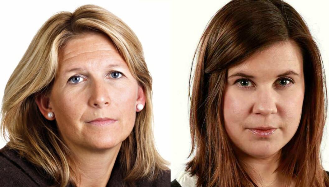 Eirin Hurum (til venstre) og Helene Skjeggestad blir nye korrespondenter for Aftenposten. Foto: Aftenposten