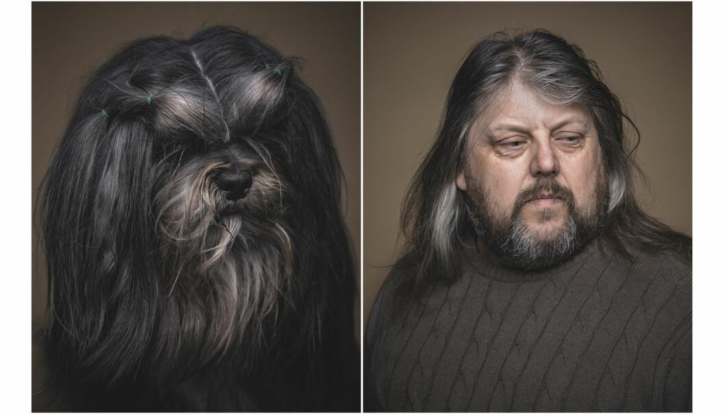 - Hundeeieren var en sofatype og hadde en typisk sofahund, forteller fotografen. Foto: Krister Sørbø