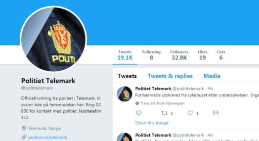 I Telemark opplever de at politiet er fraværende på Twitter