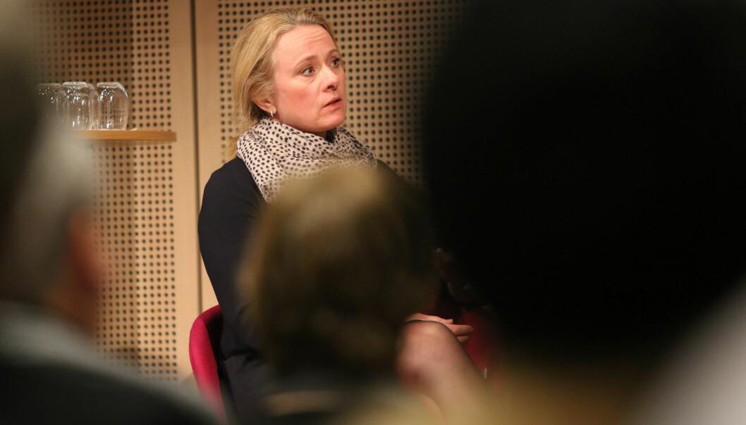 Rapporten ser på den perioden der norsk økonomi fikk en omgang juling etter oljeprisfallet, sier arbeidsminister Anniken Hauglie. Foto: Øyvinn Myge