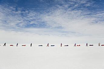 Line Hårklau gikk 27 dager på ski med ni fremmede for å finne bildene hun søkte etter