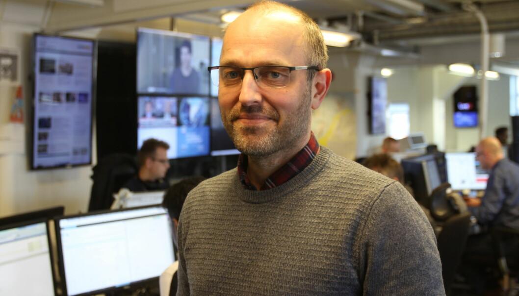 Publisher Mads Yngve Storvik i NTB. Foto: Glenn Slydal Johansen