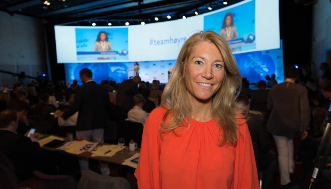 Julie Brodtkorp under Høyres landsmøte i 2015. Foto: Tomas Moss/Høyre/Flickr