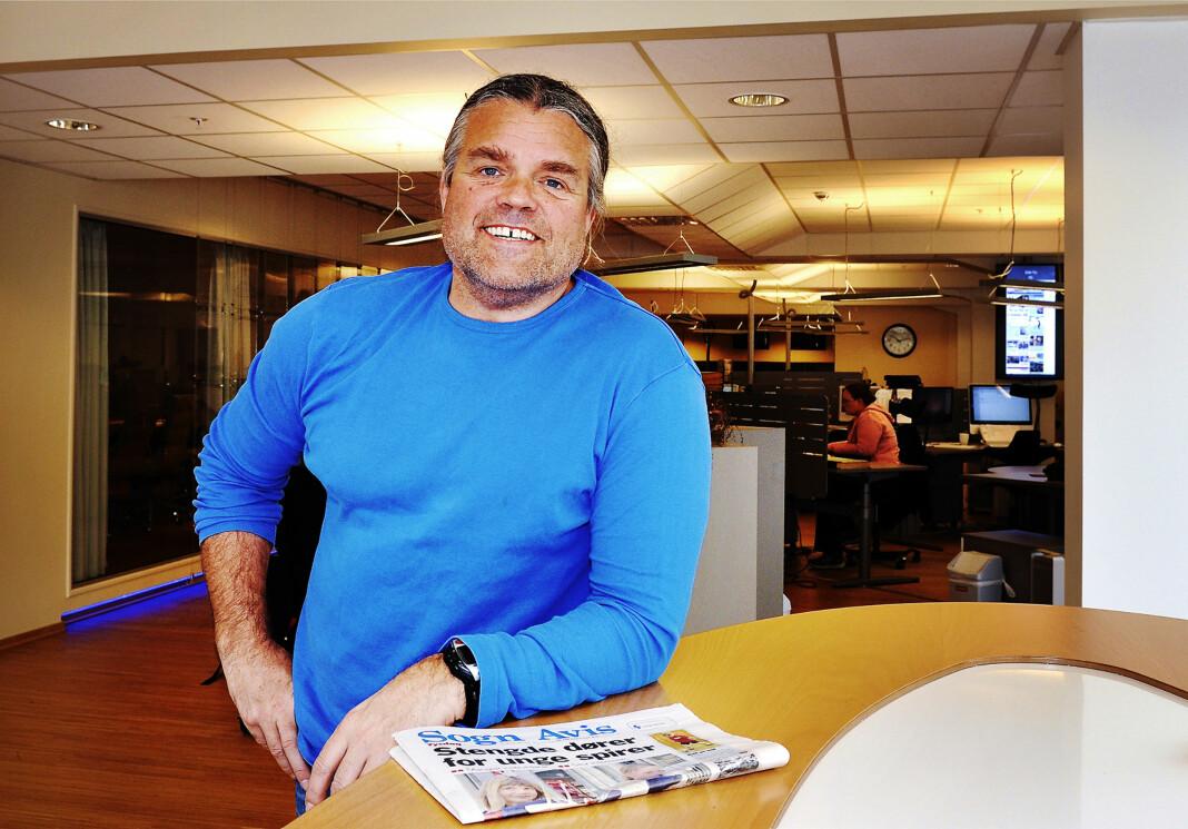 <p>Jan Inge Fardal, ansvarlig redaktør i Sogn Avis, får nye eiere når Amedia kjøper opp avisen. Arkivfoto: Privat</p>