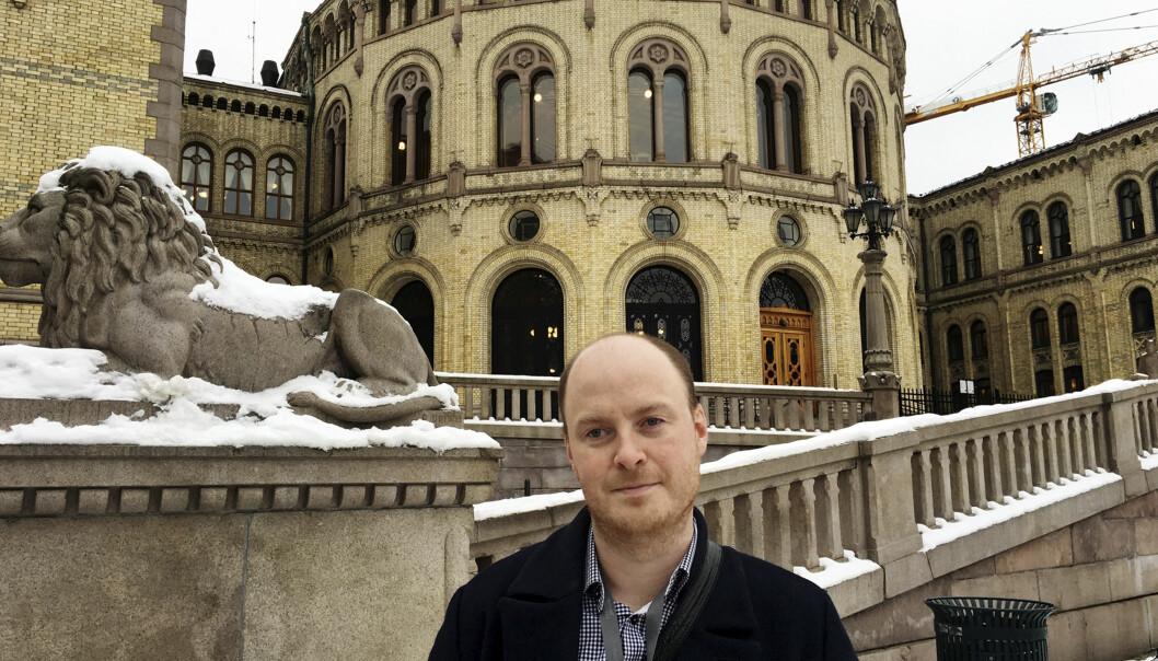 Sivert Rossing, politisk journalist i Trønder-Avisa. Foto: Torun Støbakk