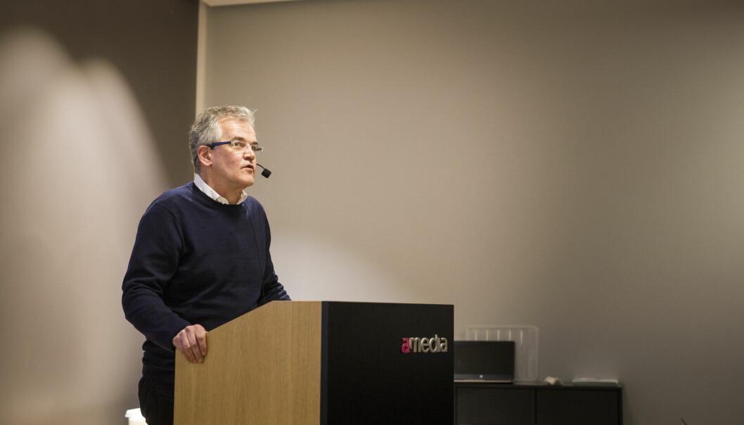 PFU-leder Alf Bjarne Johnsen presenterte torsdag 2017-regnskapet til PFU. Foto: Kristine Lindebø