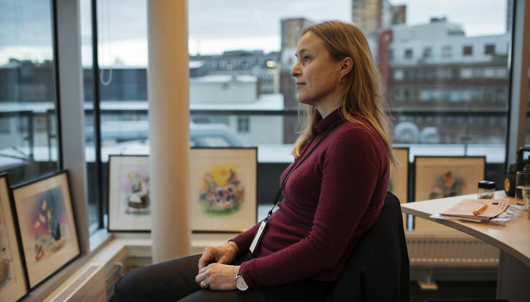 Irene Halvorsen i Nationen mener konsekvensen av forslaget kan bli slutten på dagsaviser utenfor tettbygde strøk . Foto: Andrea Gjestvang