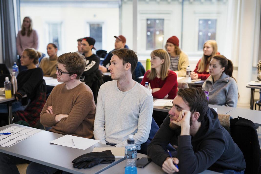 Journalistikkstudenter har undervisning ved Oslomet. Arkivfoto: Kristine Lindebø