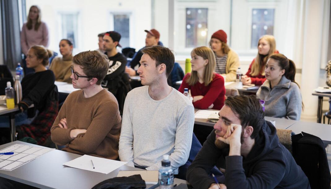 Journalistikksudenter har undervisning ved Oslomet – Storbyuniversitetet. Foto: Kristine Lindebø