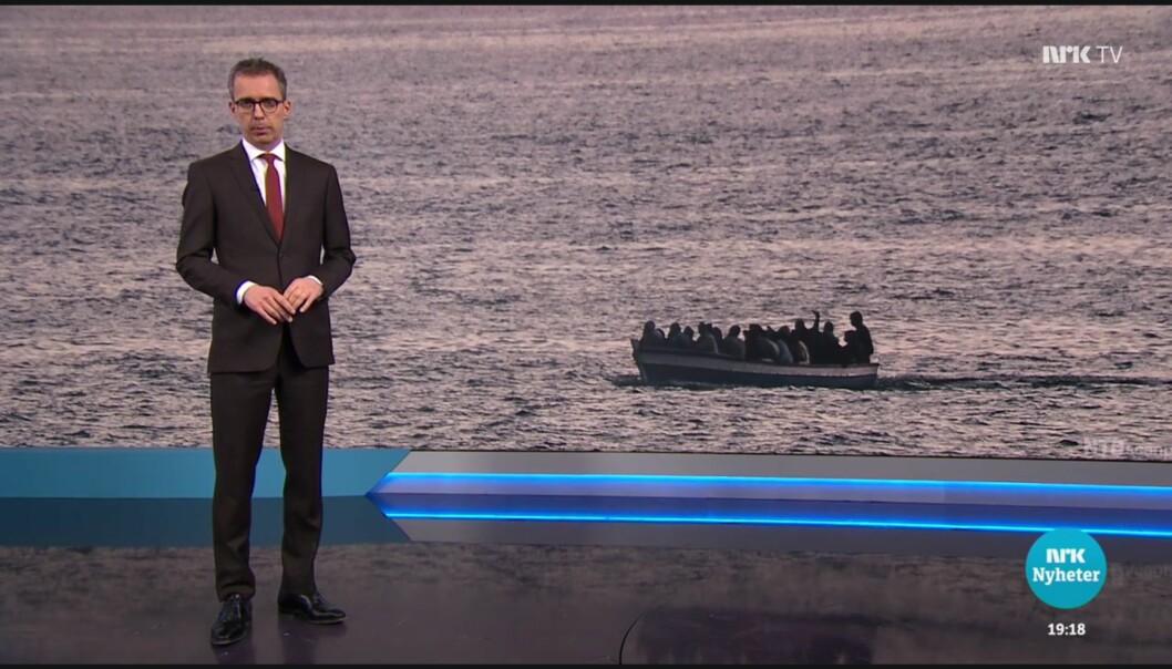 NRK viser til at programleder Jarle Roheim Håkonsen allerede i introduksjonen bruker begge begreper. Foto: NRK