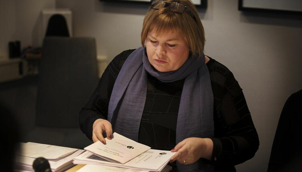 Generalsekretær Elin Floberghagen i Norsk Presseforbund vurderer å droppe PFU-behandling av alternative nettsteder Arkivfoto: Andrea Gjestvang