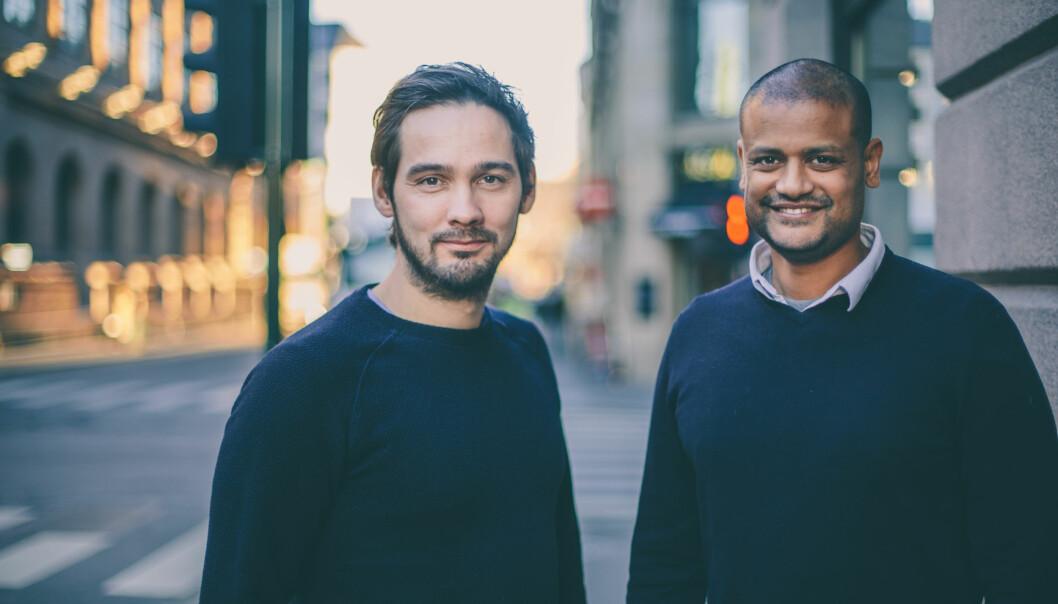 Per-Ivar Nikolaisen og Lucas H. Weldeghebriel startet mediebedriften Shifter. Foto: Marte Vike Arnesen