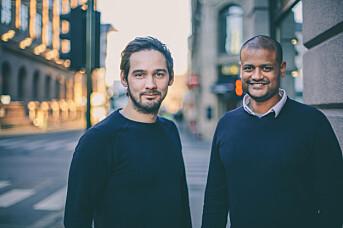 <p>Redaktør Per-Ivar Nikolaisen og daglig leder Lucas H. Weldeghebriel i Shifter.no</p>