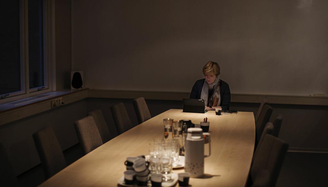 Christine Meyer gjestet Norsk Presseforbund. Foto: Andrea Gjestvang