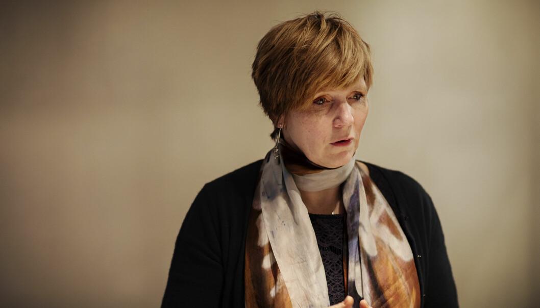 Christine Meyer fra sitt møte med styret i Norsk Presseforbund. Foto: Andrea Gjestvang
