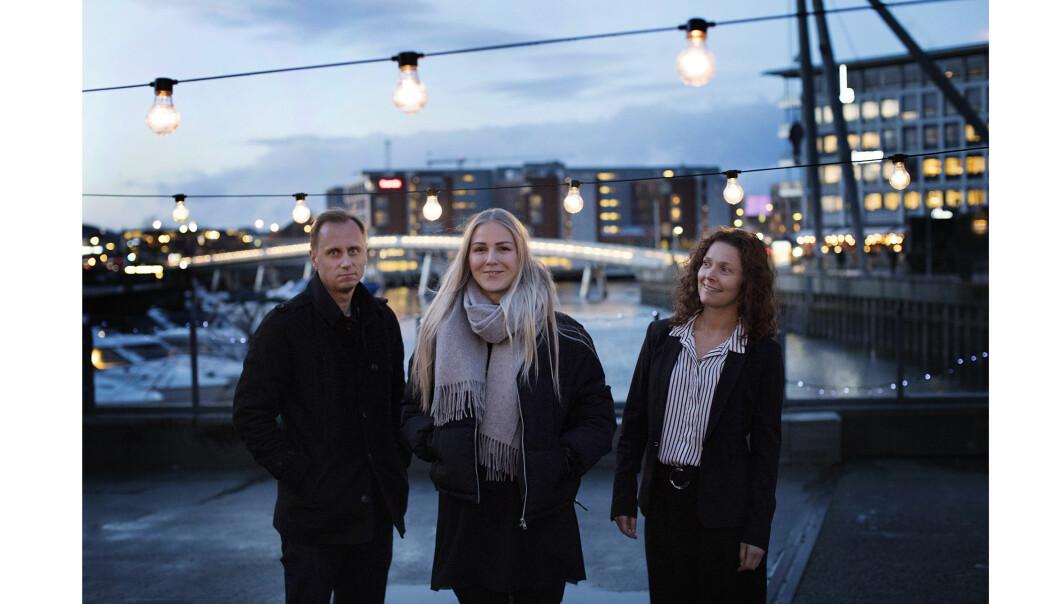 Kim Nygård, Therese Alice Sanne og Ellen Lande Gossner synes kvinnekritikken rammer festivalene urettferdig. Her er de på Trondheim Dokumentarfestival. Foto: Andrea Gjestvang