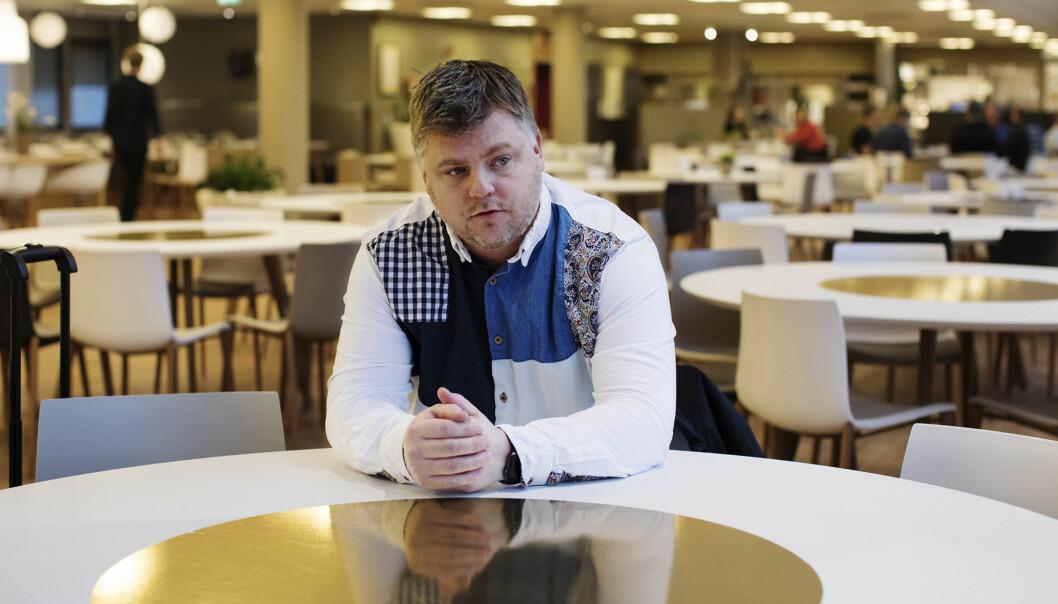 NRKJ-lederRichard Aune ber om at tillitsvalgte og medarbeidere blir hørt, når NRK igjen utvider distriktssendingene. Foto: Andrea Gjestvang.