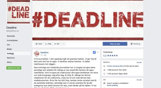 Over 4000 journalister har skrevet under på oppropet #deadline i Sverige