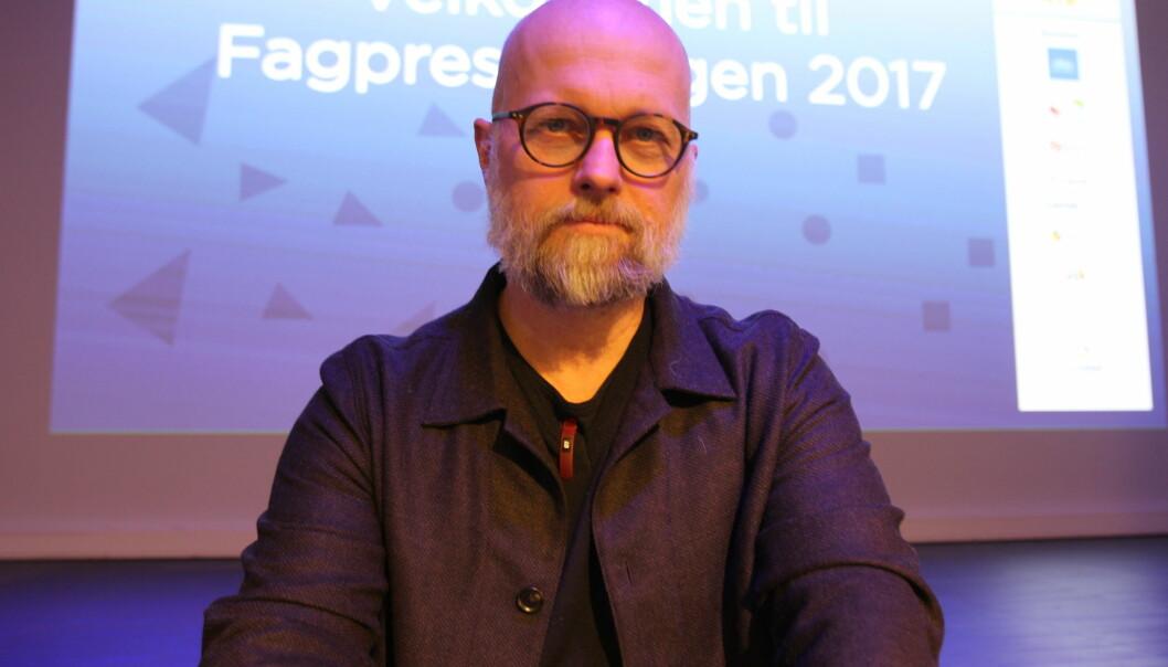 Økonomi- og IT-ansvarlig Kjartan Tryvand i Fagpressen presenterte tallenes tale på Fagpressedagen. Foto: Glenn Slydal johansen