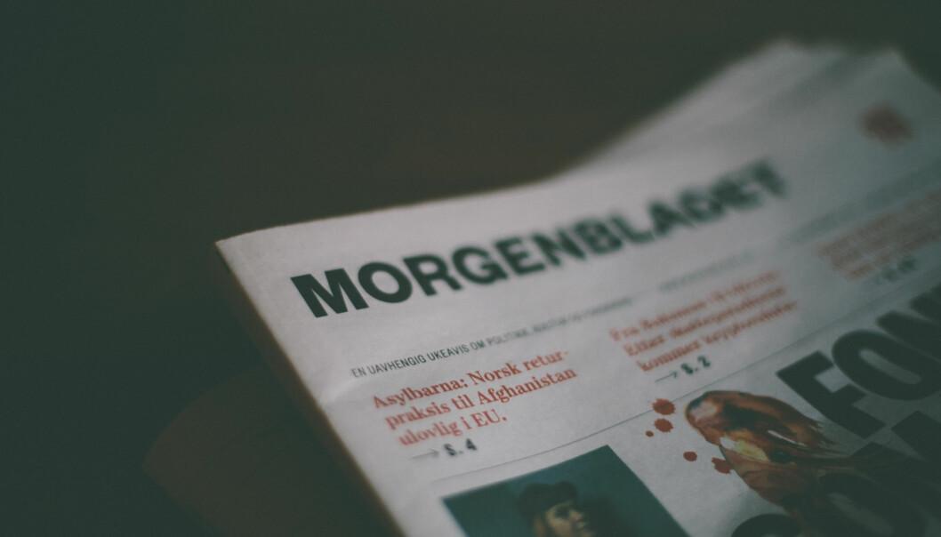 Juryen mener Morgenbladets umiskjennelige design og innholdsprofil er hovedgrunnen til at avisen stakk av med seieren. FOTO: MARTE VIKE ARNESEN