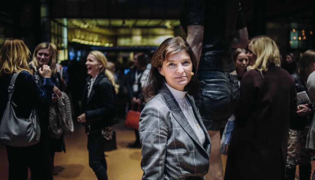 Kjersti Løken Stavrum, administrerende direktør i Stiftelsen Tinius, mener mangelen på kvinner i ledelse er gårsdagens problem. Foto: Marte Vike Arnesen
