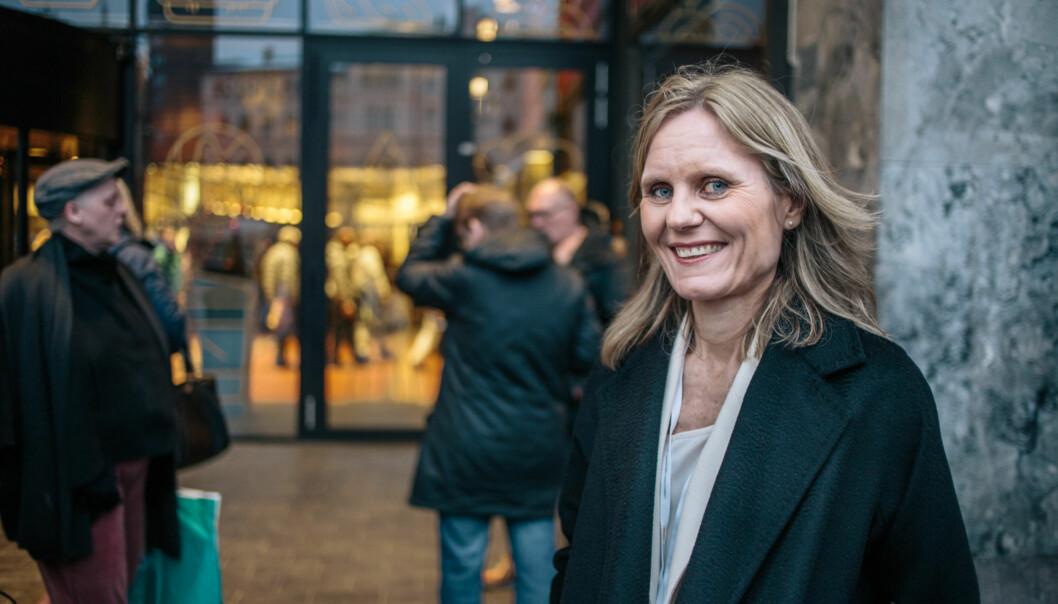 Helje Solberg har jobbet i VG i mer enn 23 år. Nå er hun kåret til årets kvinnelige medieleder. Foto: Marte Vike Arnesen.