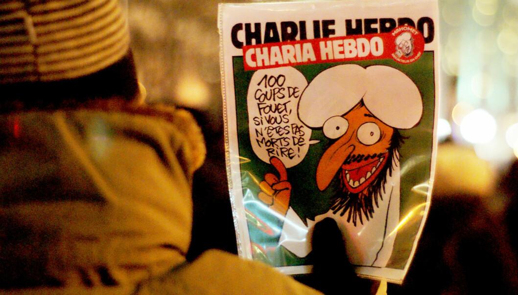 Mange medier var forsiktige da de trykket faksimiler fra Charlie Hebdo etter angrepet mot avisen. Foto: Gerry Lauzon, Creative Commons