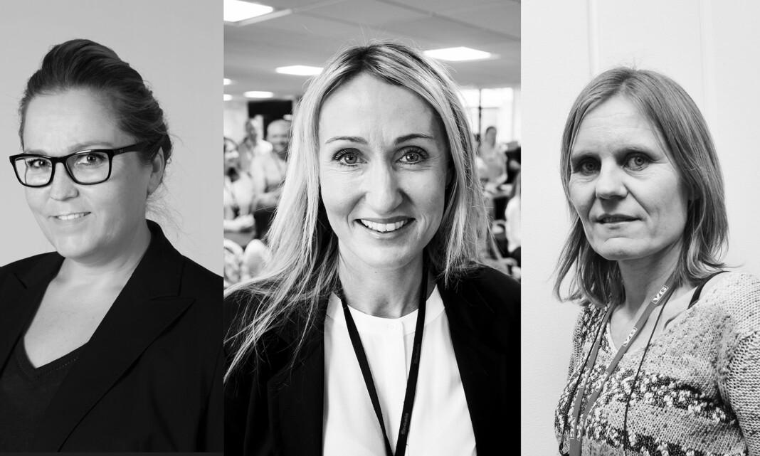 Bente Klemetsdal, Kirsti Husby og Helje Solberg kan bli årets kvinnelige medieleder