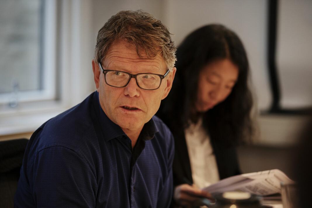 <p>Nyhetssjef i NRK Stein Bjøntegård, her under et møte i PFU. Arkivfoto: Andrea Gjestvang<br></p>