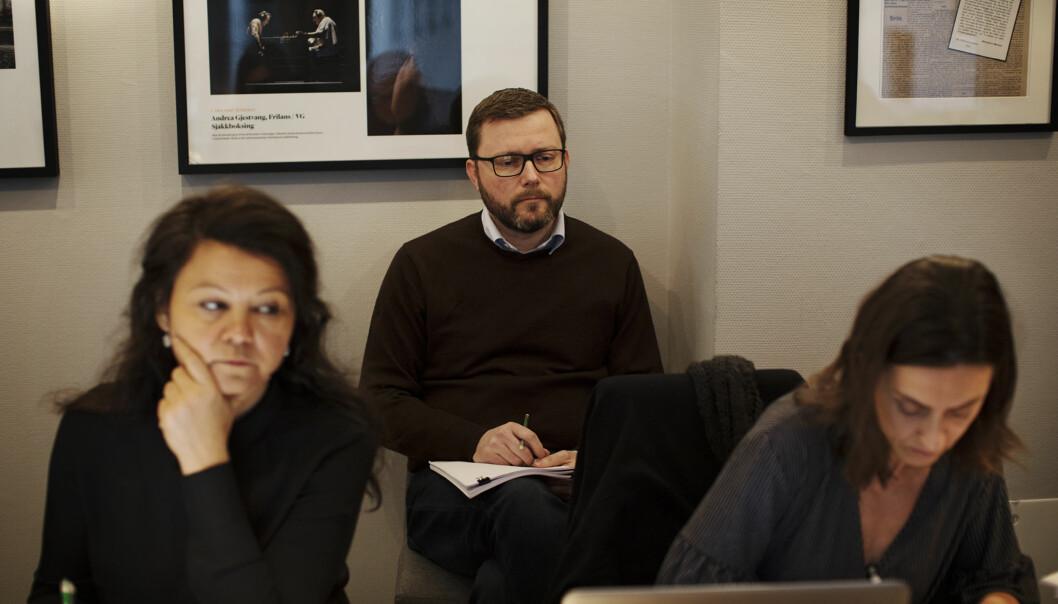 Rune Olsø var tilstede og lyttet til PFUs saksbehandling. Foto: Andrea Gjestvang
