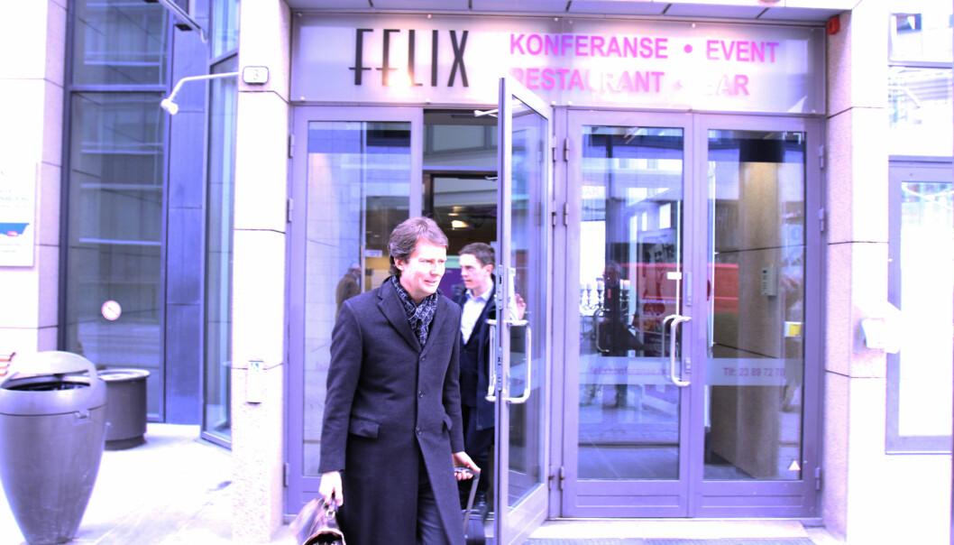 Konsernsjef Per Axel Koch har grunn til å smile. I tredje kvartal øker to av tre mediegrupper i konsernet omsetningen sammenlignet med fjoråret. Arkivfoto: Martin Huseby Jensen