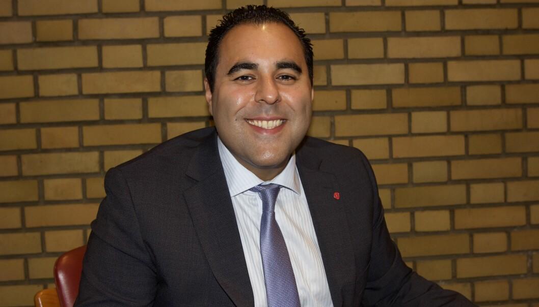 Masud Gharahkhani fra Drammen er Arbeiderpartiets nye mediepolitiske talsmann. Foto: Glenn Slydal Johansen