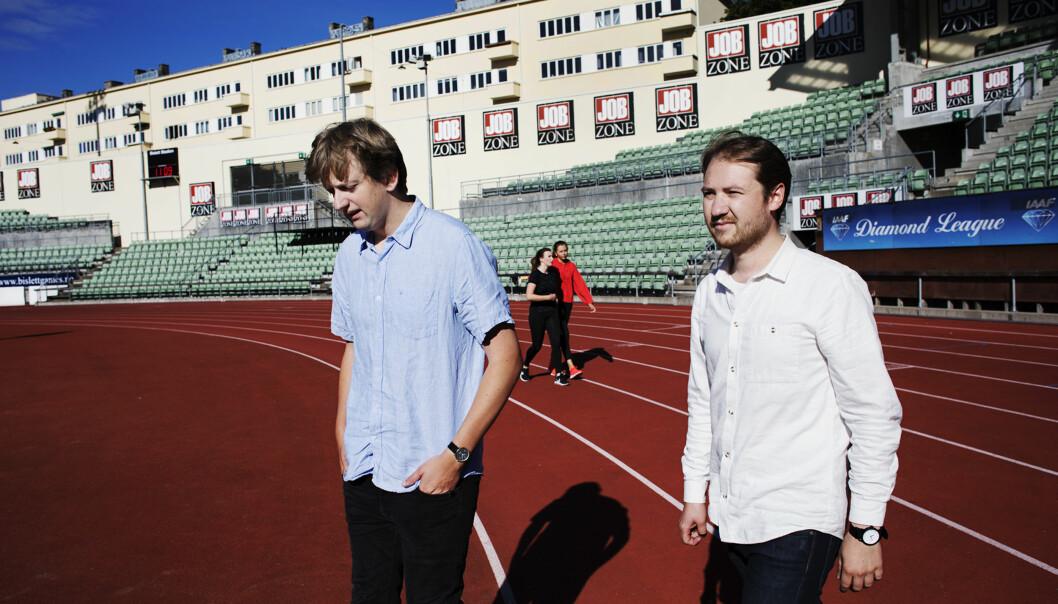 Jon Olav Nesvold og Fredrik Varfjell startet Bildbyrån i Norge sammen med Vegard Wivestad Grøtt. De satser på bred sportsdekning, og blir en direkte konkurrent til sin tidligere arbeidsgiver NTB scanpix. Foto: Andrea Gjestavang