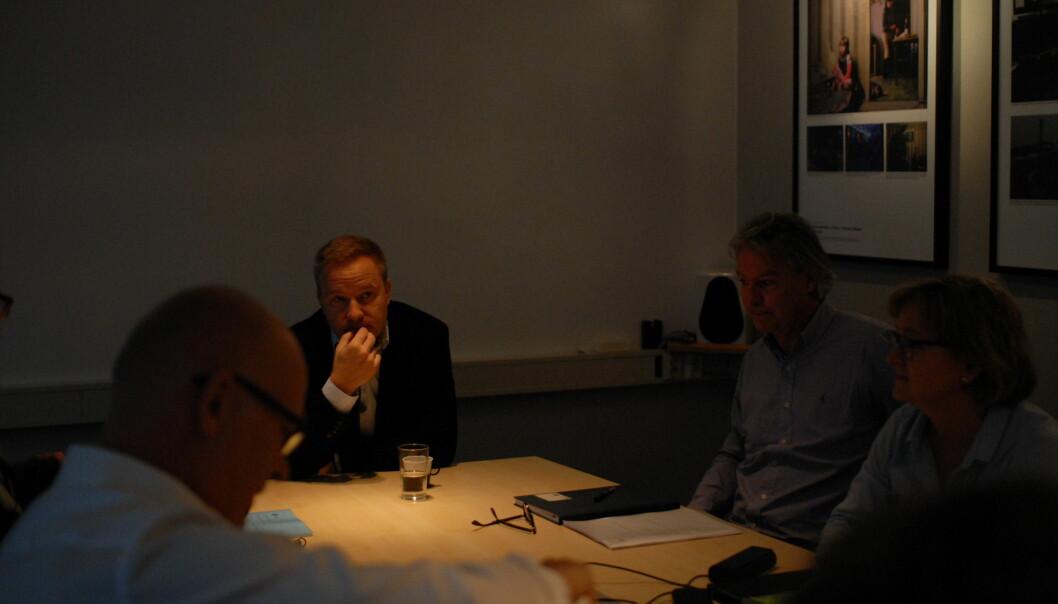 Helge Lurås og Resett har fått sin første PFU-klage mot seg. Her fra Presseforbundets styremøte. Foto: Martin Huseby Jensen