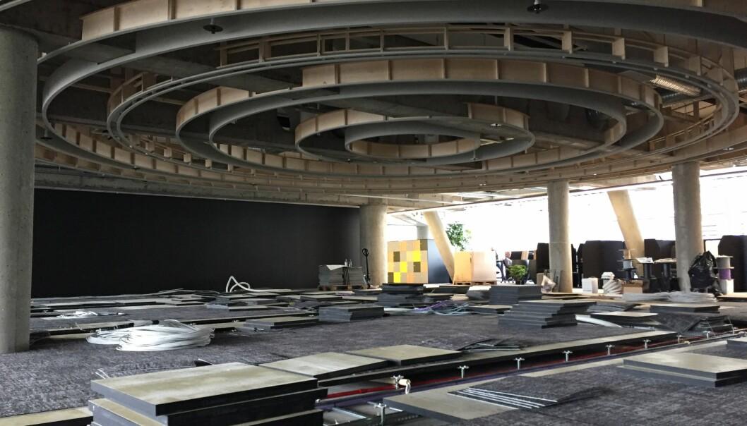 Nytt nyhetsstudio er i ferd med å bygges i Bergen. Foto: TV 2