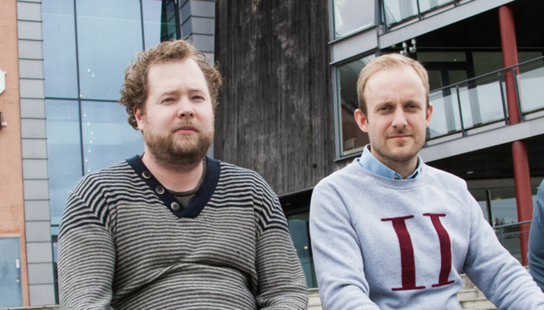 GRANSKERE: Journalistene Vegar K. Vatn, Øystein Sørumshagen og Lars Døvle Larssen har brukt mye tid og ressurser på grave fram informasjon om virksomheten til to topper i bevegelsen kjent som Smiths venner. FOTO:KATHRINE GEARD