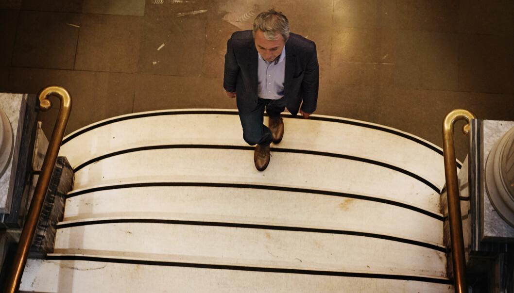 Styreleder André Støylen forteller at endringen av fordeling av styrepapirer er ganske vanlig. Foto: Andrea Gjestvang