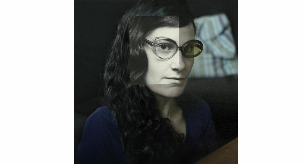 Linda Bournane Engelberth har laget et nytt bilde ved å sette sammen et fotografi av moren og et av henne selv. Foto: Linda Bournane Engelberth
