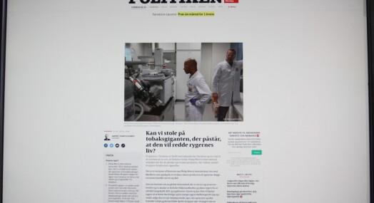 Danske Politiken lot Philip Morris betale reisen deres til tobakkprodusentens eget laboratorium