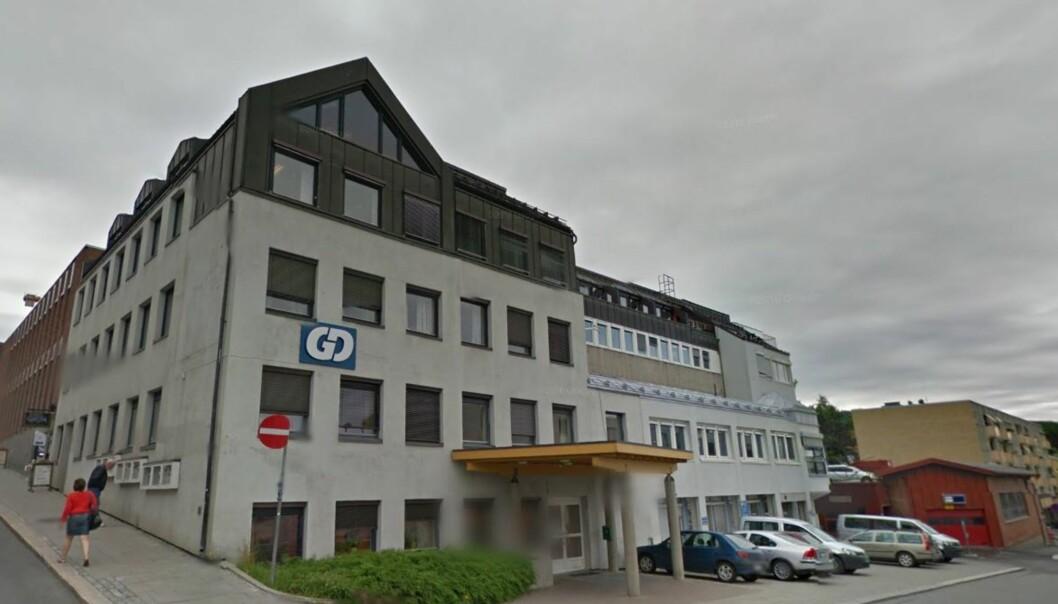 GDs redaksjon i Jernbanegata i Lillehammer. Foto: Google Maps
