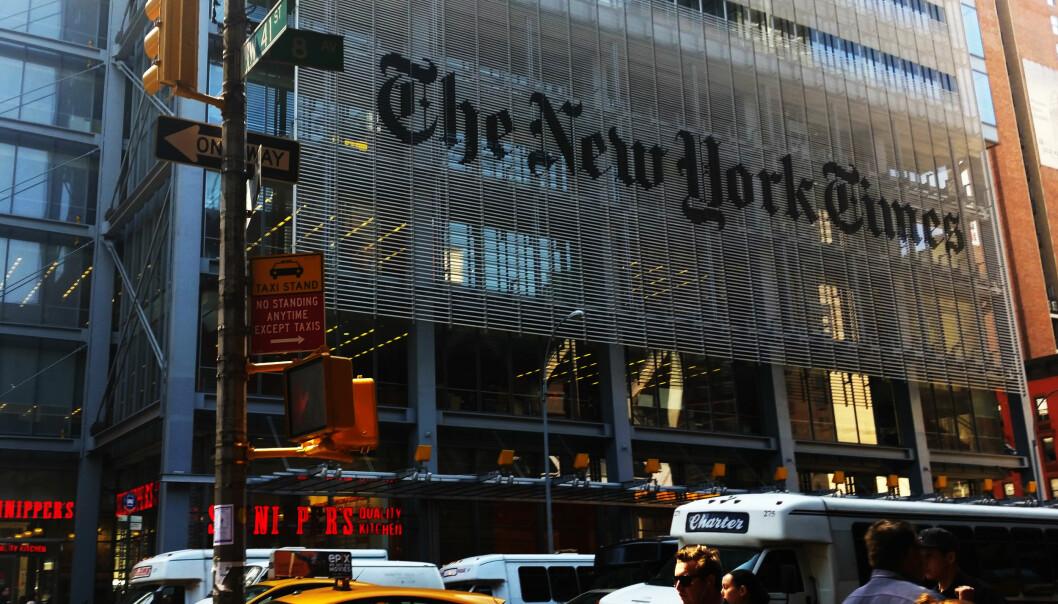 New York Times hovedkontor på Manhattan. Foto: Martin Huseby Jensen