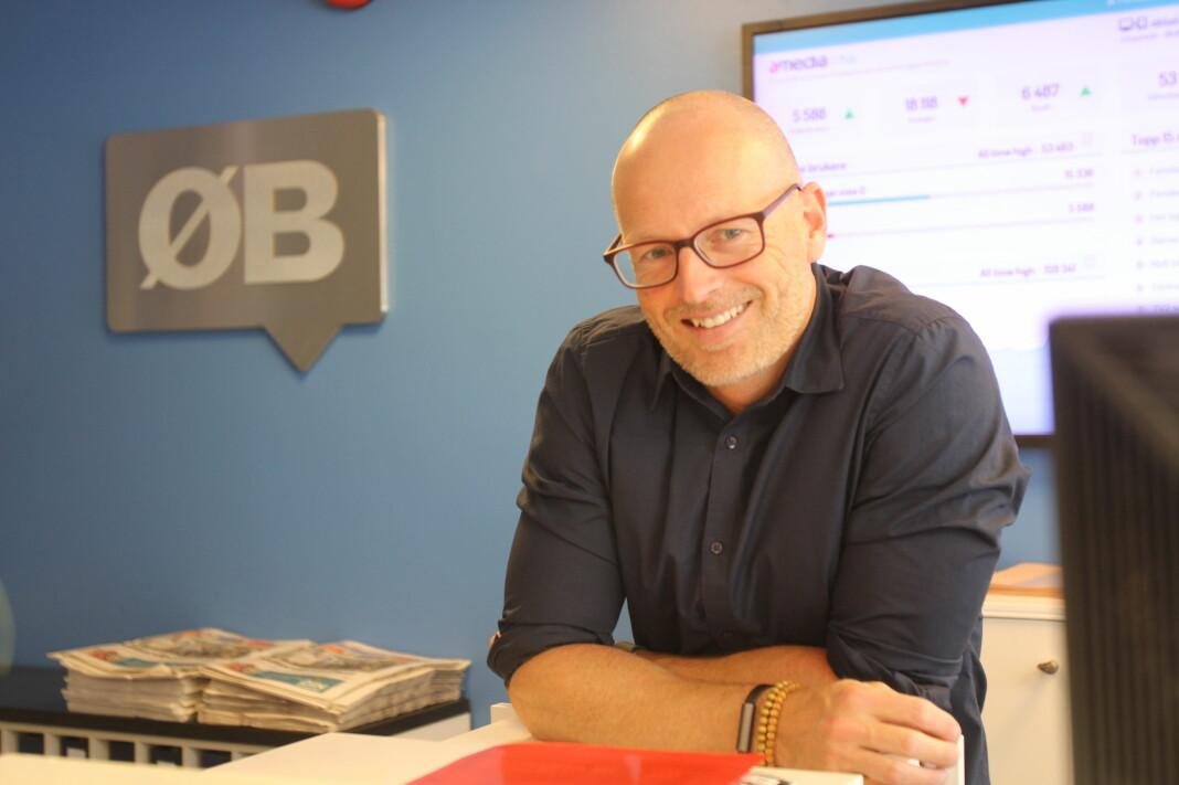 Ansvarlig redaktør og daglig leder Martin Gray i Østlandets Blad.